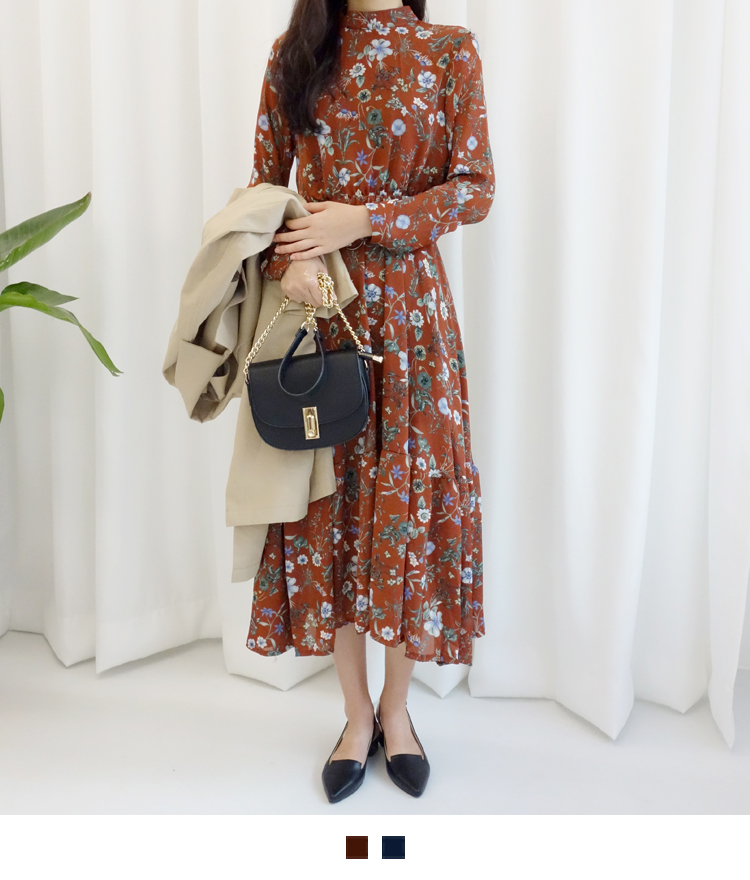 Floral Belted Midaxi Dress