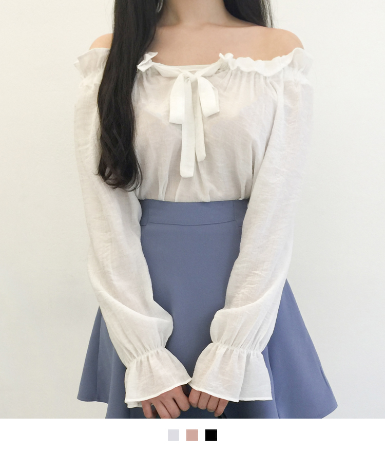 Self-Tie Off-Shoulder Blouse