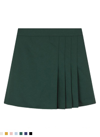 Side Pleat Mini Skirt
