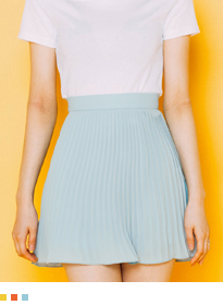 BAUHAUSChiffon Pleated Mini Skort