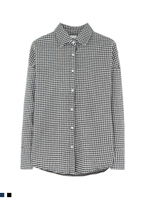 Gingham Check Point Collar Shirt