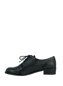 Basic Black Lace-Up Shoes
