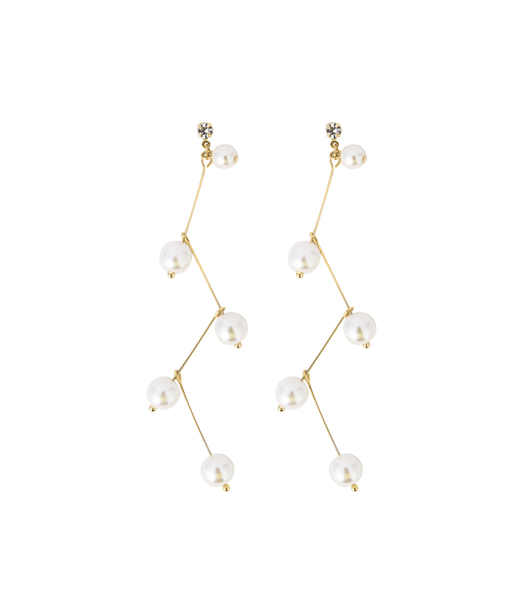Dangling Faux Pearl Stud Earrings