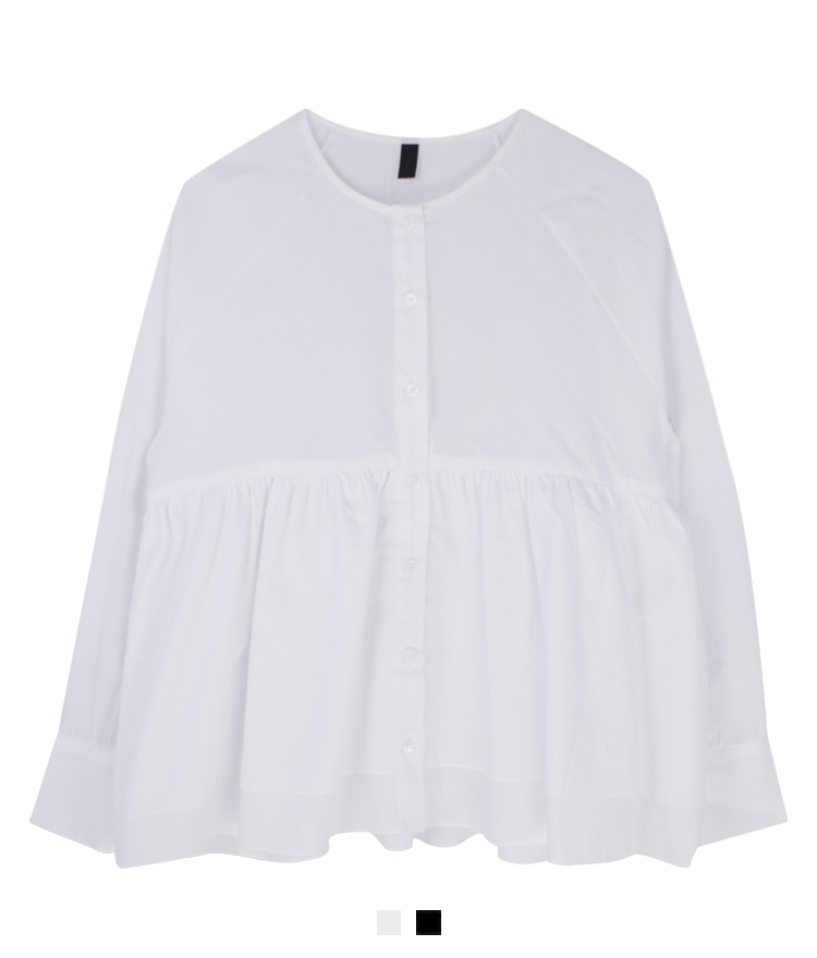 Button-Front Empire Cut Blouse