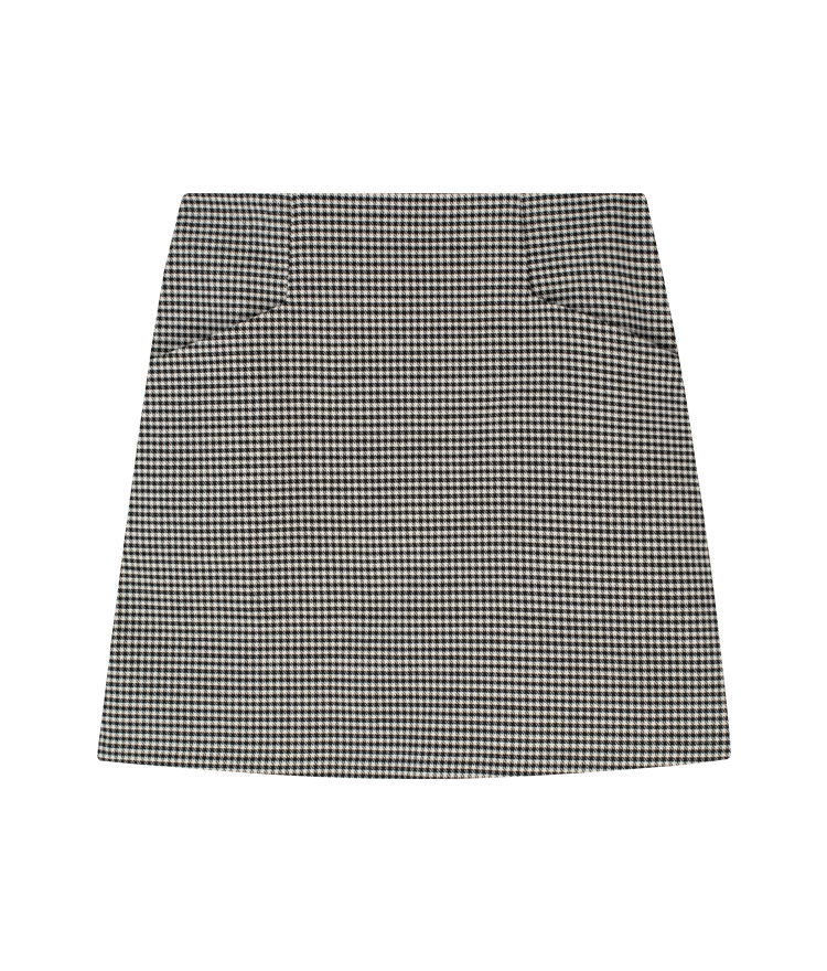 Houndstooth Side Pocket Mini Skirt
