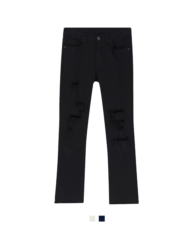 Ripped Accent Slim Pants