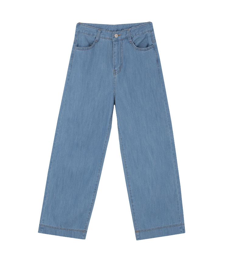 4-Pocket Wide Leg Jeans