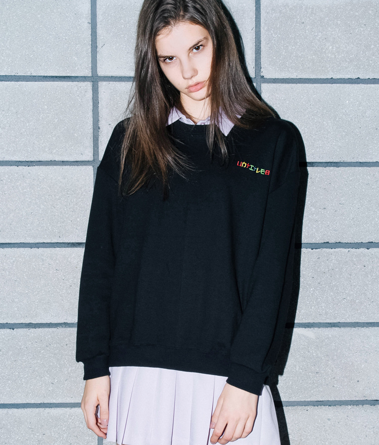 UNTITLE8Logo Embroidered Sweatshirt
