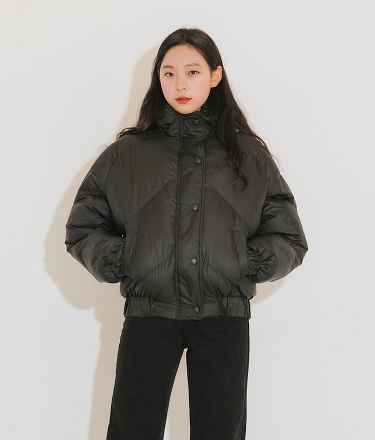 QUIETLABSnap Front Hooded Puffer Jacket