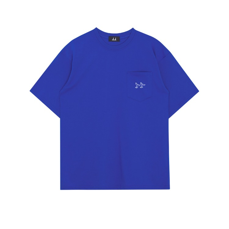 THINKTWICEFishtail-Detailed Pocket T-Shirt