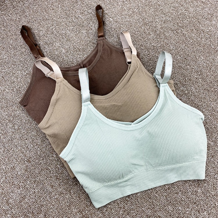 QUIETLABAdjustable Strap Solid Tone Bra Top