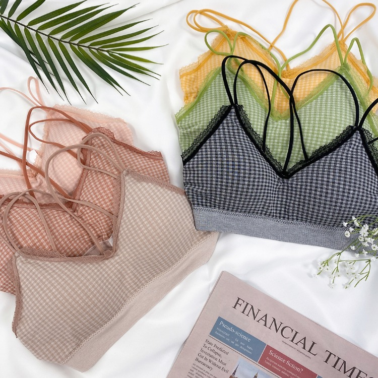 QUIETLABStrappy Check Bra Top