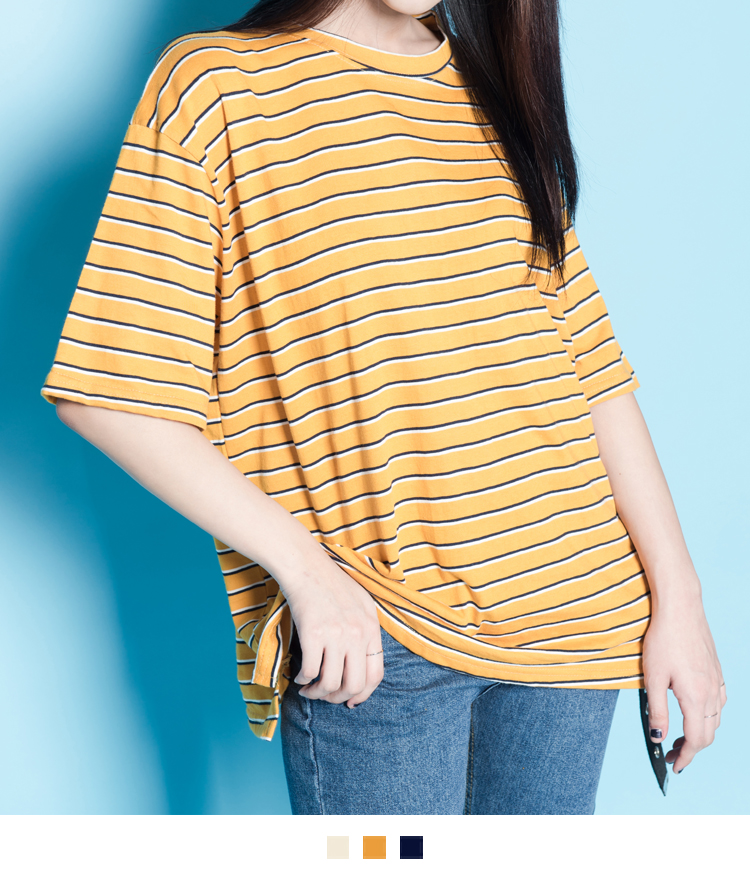 Striped Half Sleeve T-Shirt
