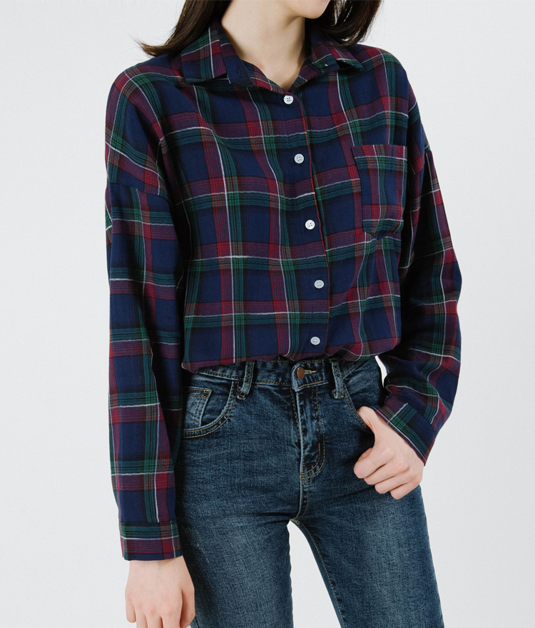 Drop Shoulder Check Shirt