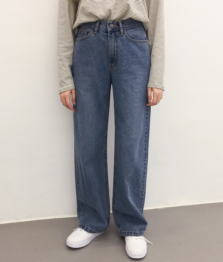 NEVERM!NDFaded Wash Loose Fit Denim Pants