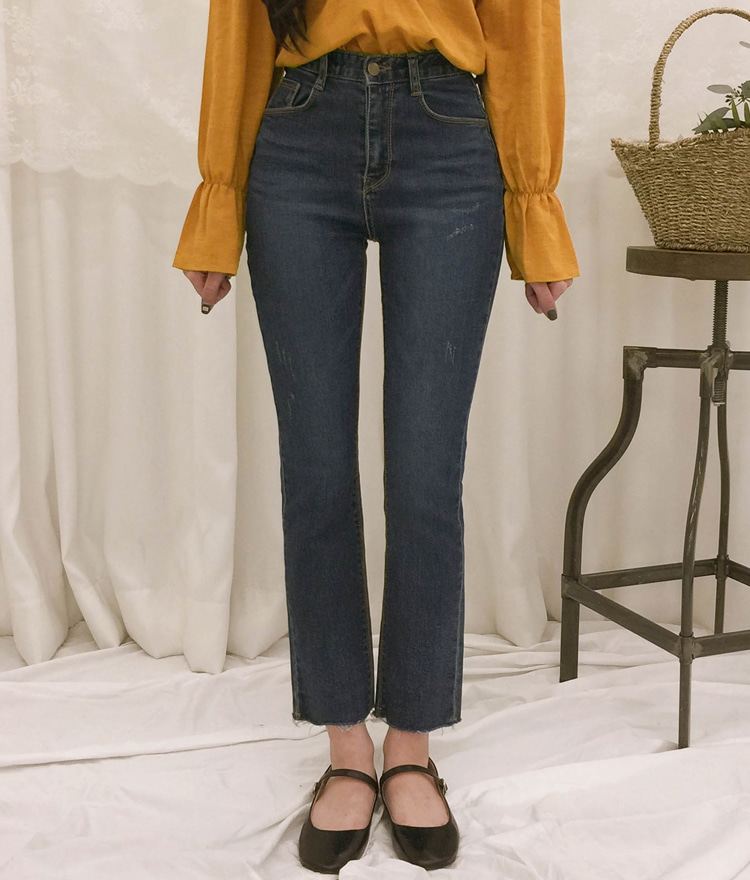 ROMANTIC MUSEWhisker Wash 5-Pocket Denim Pants