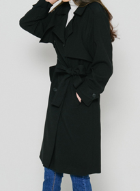 HASClassic Belted Trench Coat