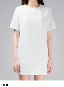365BASICShort Sleeve Shift Dress