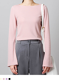 BAUHAUSBoat Neck Bell Sleeve Top