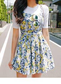 Fit-And-Flare Floral Dress