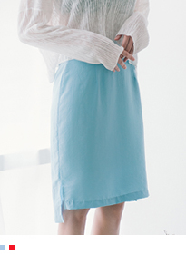 BAUHAUSHigh Waist High-Low Hem Midi Skirt