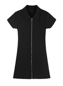 HIDE AND SEEKZip-Front Polo Dress