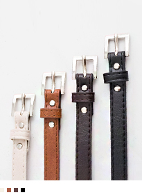 Silver Tone Square Buckle Belt