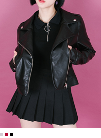 Classic Faux Leather Biker Jacket