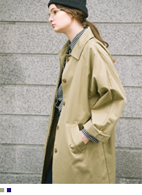 Concealed Button Placket Trench Coat