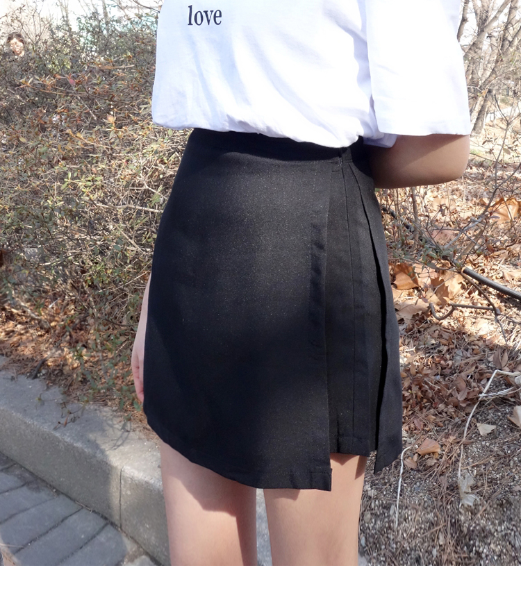 Side Zip Layered Skort