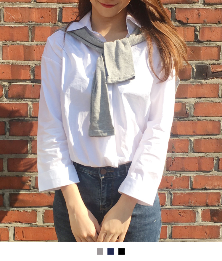 Faux Cardigan Layer Blouse