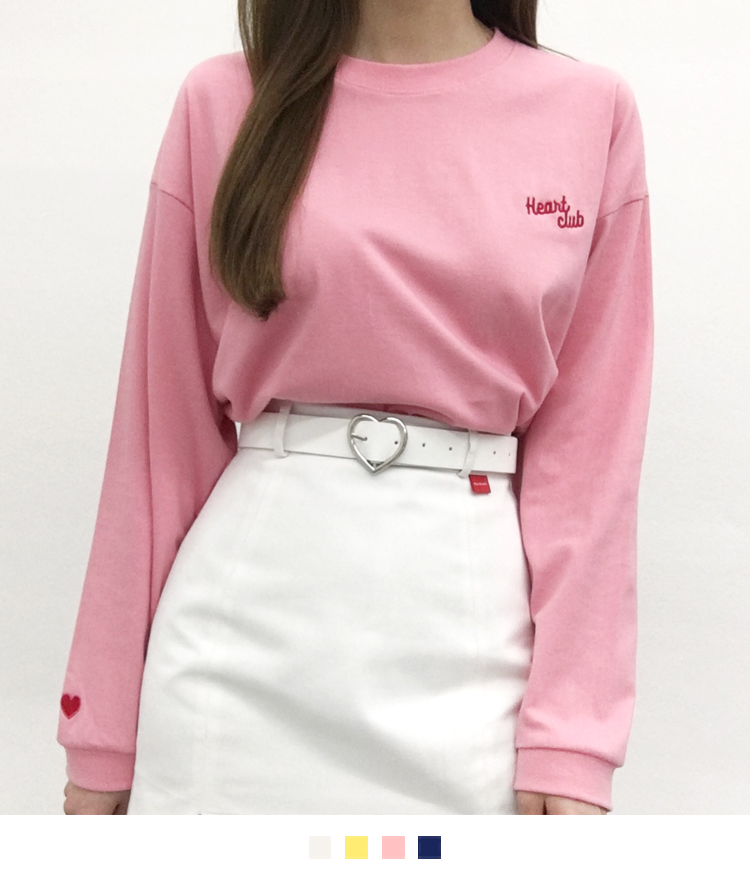 HEART CLUBEmbroidered Logo Cropped Top