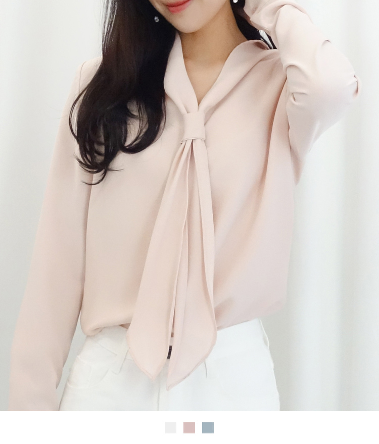 Scarf Collar Blouse
