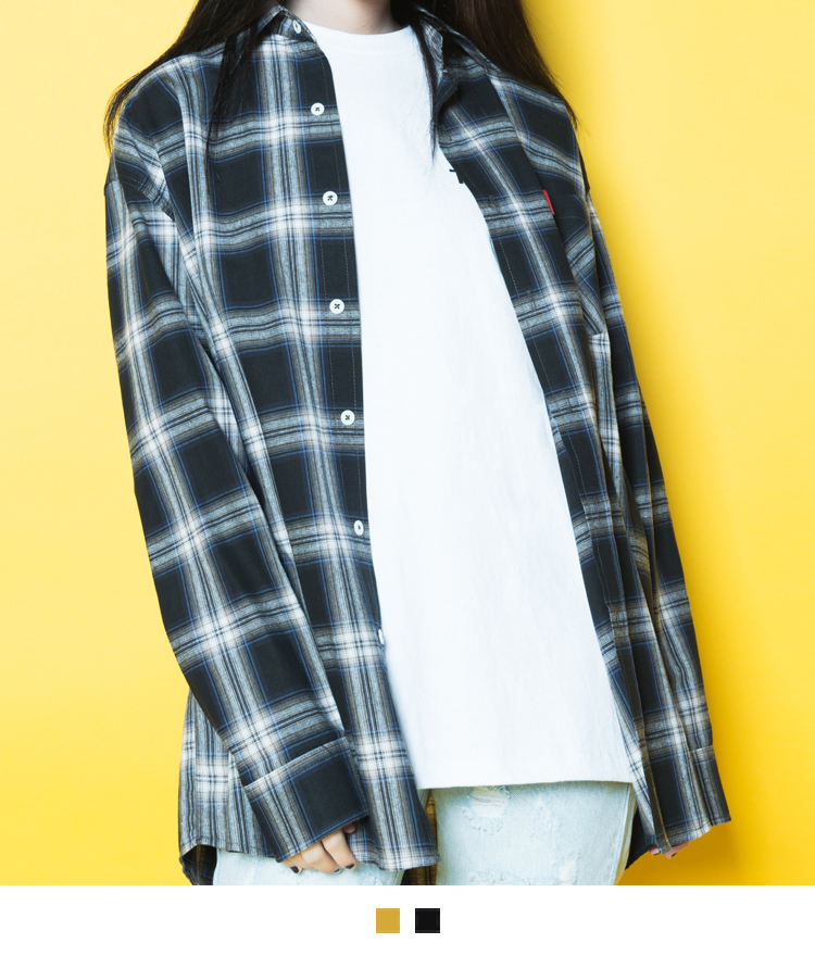 Tartan Check One Pocket Boyfriend Shirt