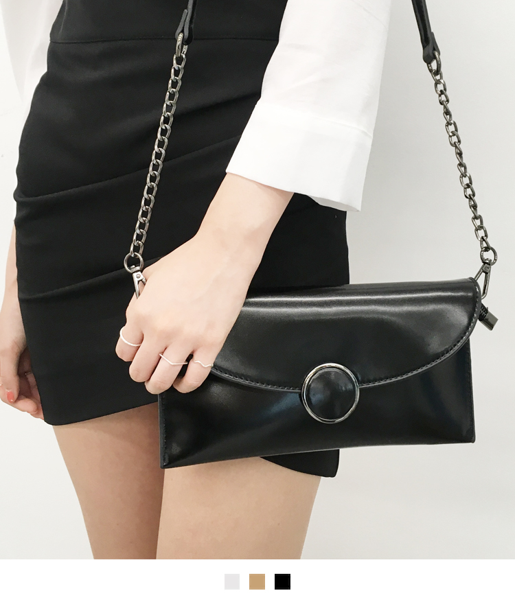 Ring Accent Flap Mini Bag