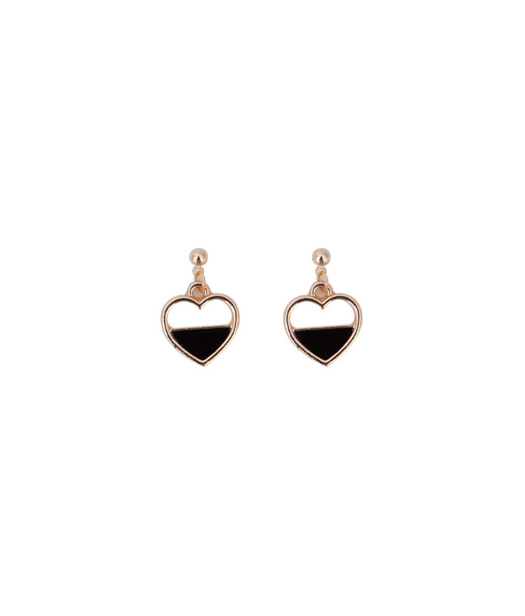 Paneled Heart Stud Earrings