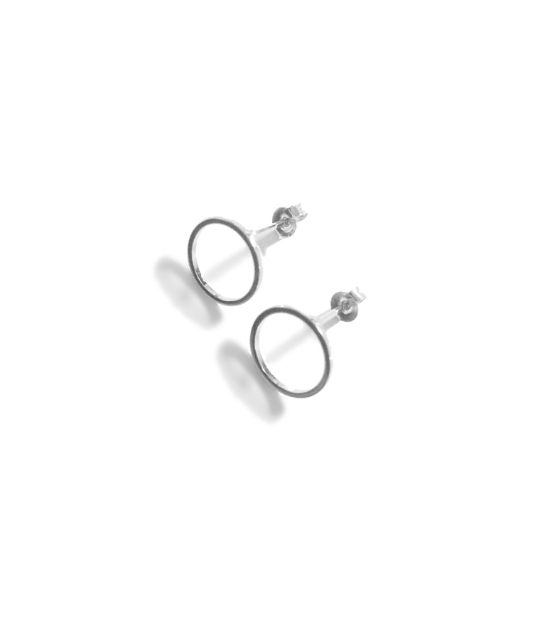 Simple Circle Frame Earrings